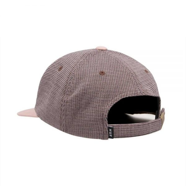 MICRO HOUNDSTOOTH 6 PANEL RED